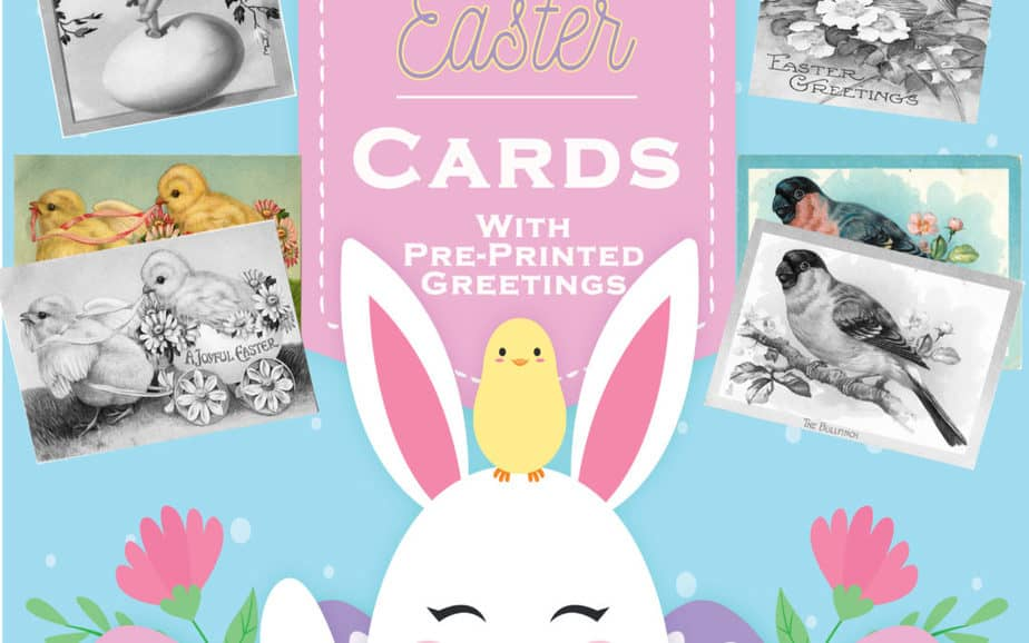 Grayscale Coloring Easter Cards