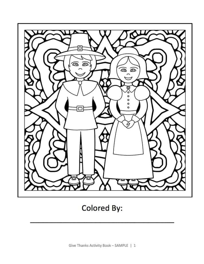 This is one of the coloring pages from Give Thanks Activity Book