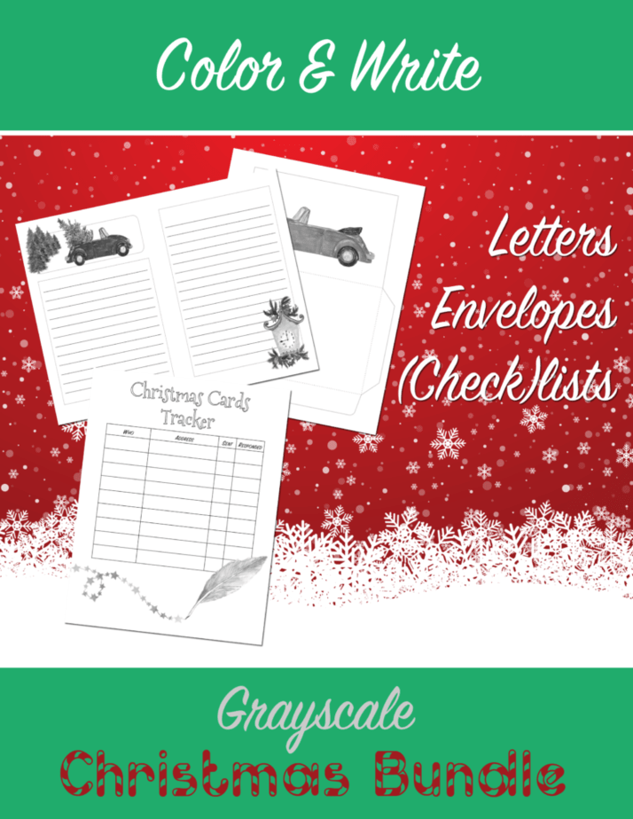 color and write Christmas Bundle