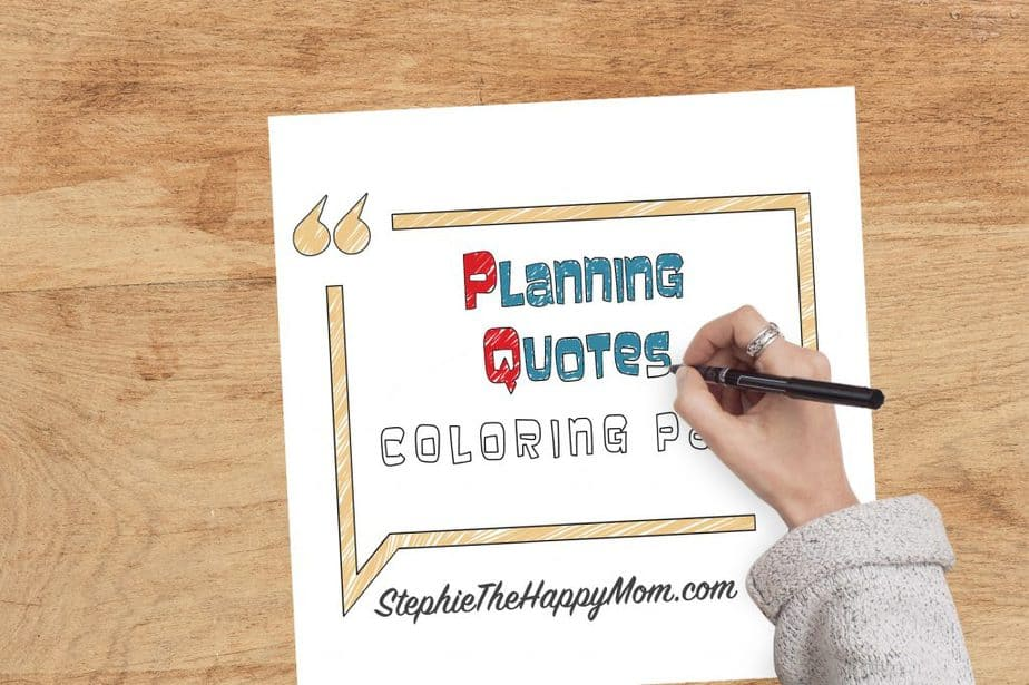 Planning Quotes Coloring Pack
