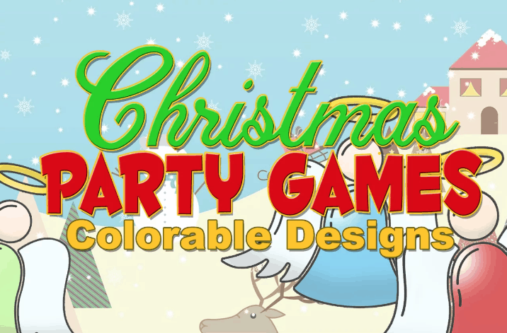 Xmas party coloring plr