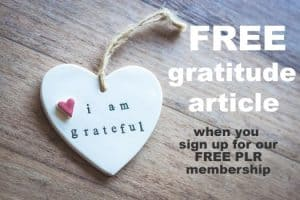 Free Gratitude Article from Dina