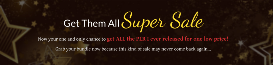 Black Friday PLR Sale
