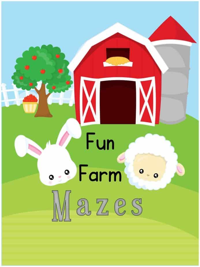 Farm Mazes Activities