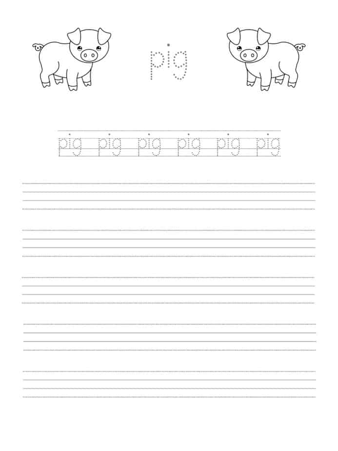 Writing Practice Coloring Page